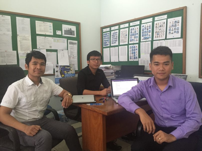 The Procurement Team of DOCKSIDE project. They are working to improve the quality of the equipment and resources in all partner universities.  Member: Khiev Touch, Sopheak Srun, Sovityea Thang