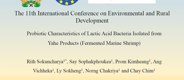 Poster and Oral Presentation – International Conference on Environmental and Rural Development
