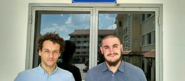 Arrival of the two interns from University of Nantes (France)