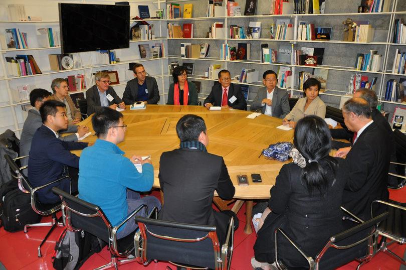 The Cambodian Delegation with the Rector of Universidade de Vigo, Mr Salustiano Mato de la Iglesia and Vice-Rector Manuel Fernandez Iglesias
