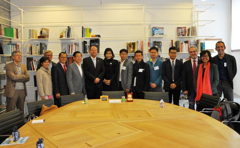 The Cambodian Delegation with the Rector of Universidade de Vigo, Mr. Salustiano Mato de la Iglesia and Vice-Rector Manuel Fernandez Iglesias
