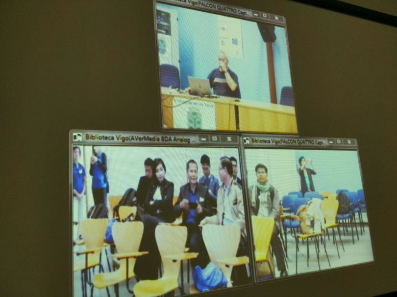 One of the distance learning tool that the Cambodian delegation discovered during the visit to the University of Vigo