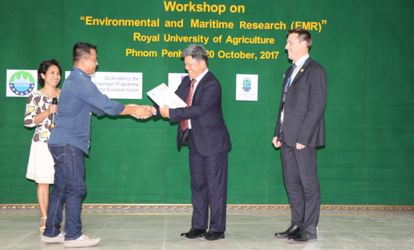 Three-Minutes thesis Contest Award Ceremony with His Excellency, Prof. Dr. NGO Bunthan, Rector of Royal University of Agriculture